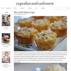 Mac and Cheese Cups - Cupcakes and Cashmere