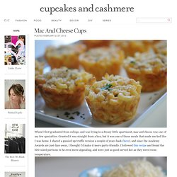 Mac and Cheese Cups - Cupcakes and Cashmere - StumbleUpon