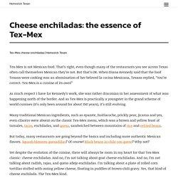 Cheese enchiladas: the essence of Tex-Mex