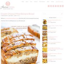Averie Cooks Cream Cheese-Filled Banana Bread