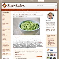 Fava Bean Dip with Goat Cheese and Garlic Recipe