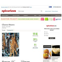 Cheese Straws Recipe at Epicurious