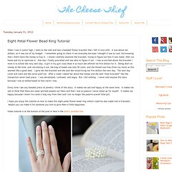 Eight Petal Flower Bead Ring Tutorial