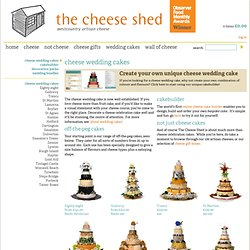 Wedding cakes of cheese