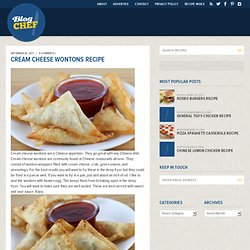 Cream Cheese Wontons Recipe