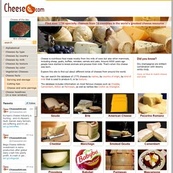 Cheese.com - World's Greatest Cheese Resource