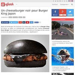 Un cheeseburger noir pour Burger King Japon