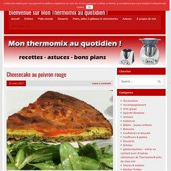 Cheesecake au poivron rouge – Bienvenue sur Mon Thermomix au quotidien !