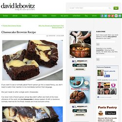 Cheesecake Brownie Recipe