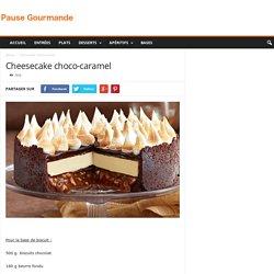 Cheesecake choco-caramel