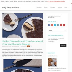 Kahlua Cheesecake with Chocolate Almond Crust and Chocolate Ganache