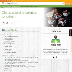 Cheesecake à la compote de poires, recette