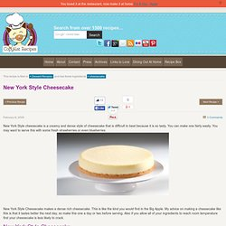 New York Style Cheesecake