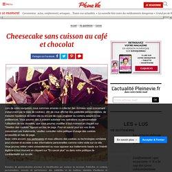Cheesecake sans cuisson au café et chocolat