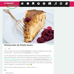 Cheesecake de Patate Douce