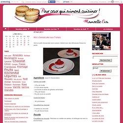 Mini cheesecake aux fraises