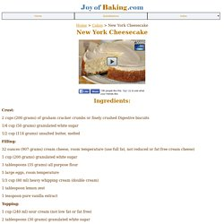 Cheesecake - Joyofbaking.com