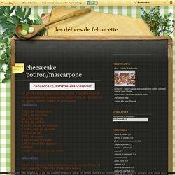 cheesecake potiron/mascarpone - Le blog de feloucette