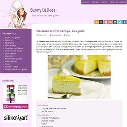 Cheesecake au citron meringué, sans gluten - Sunny Délices
