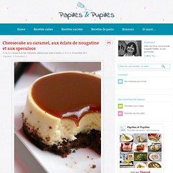 Recette de Cheesecake au caramel, aux éclats de nougatine et aux speculoos
