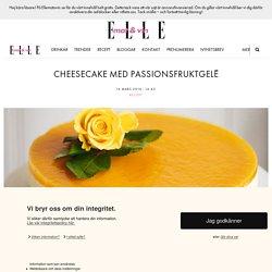 Cheesecake med passionsfruktgelé
