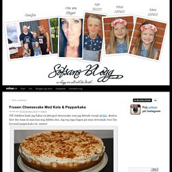 Frusen Cheesecake Med Kola & Pepparkaka