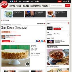 Sour Cream Cheesecake Recipe : Alton Brown