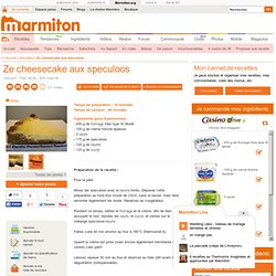 Ze cheesecake aux speculoos : Recette de Ze cheesecake aux speculoos