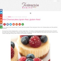 Mini Cheesecakes (grain-free, gluten-free) - Texanerin Baking