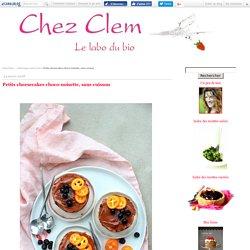 Petits cheesecakes choco-noisette, sans cuisson