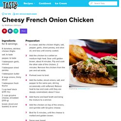 Cheesy French Onion Chicken Recipe by Tasty