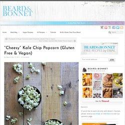"""Cheesy"" Kale Chip Popcorn (Gluten Free & Vegan)"