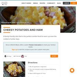 Cheesy Potatoes and Ham