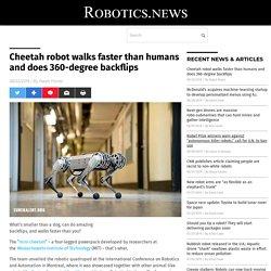 Cheetah robot walks faster than humans and does 360-degree backflips