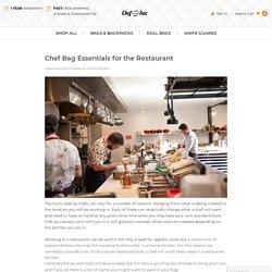 Chef Bag Essentials for the Restaurant - Chef Sac