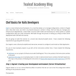 Chef basics for Rails developers