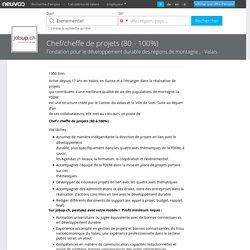 Chef/cheffe de projets (80 - 100%) Emploi