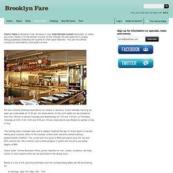 Chef's Table @ Brooklyn Fare Market, Manhattan