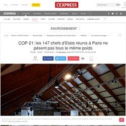 COP 21: les 147 chefs d'Etats réunis à Paris ne pèsent pas tous le même poids