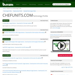 chefunits.com Technology Profile