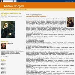 Antón Chejov: La muerte del funcionario