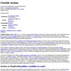 Chekib Arslan