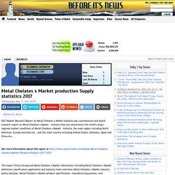 Metal Chelates s Market production Supply statistics 2017