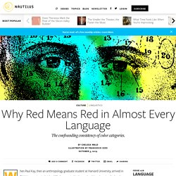 Chelsea Wald on Why red still means red in Arabic, Swahili, and English