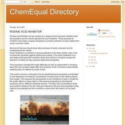 ChemEqual Directory: RODINE ACID INHIBITOR