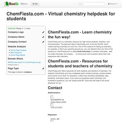 ChemFiesta.com - Virtual chemistry helpdesk for students