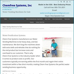 Chemfree Systems, Inc Drinking Water Equipment