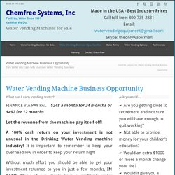 Chemfree Systems, Inc Business Opportunity Water