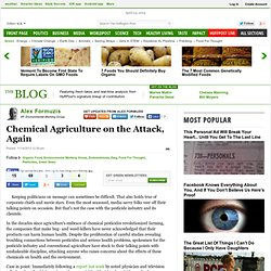 Chemical Agriculture on the Attack, Again | Alex Formuzis
