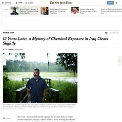 12 Years Later, a Mystery of Chemical Exposure in Iraq Clears Slightly